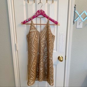 River Island Dresses - NWT River Island Gold Sequin Embroidered Dress!